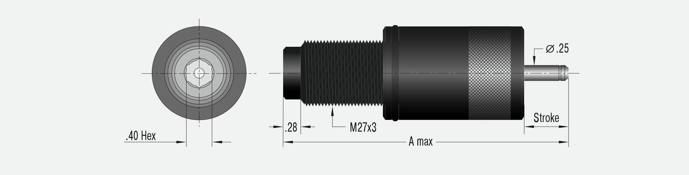 Set mit 4 Kohlebürsten AMEISE 0870002 8x20x26mm