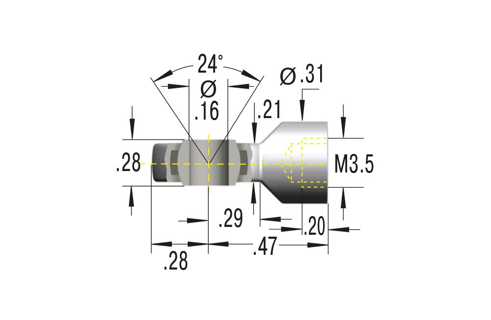 Gelenkkopf M3,5 ***maximale Belastung 225N***