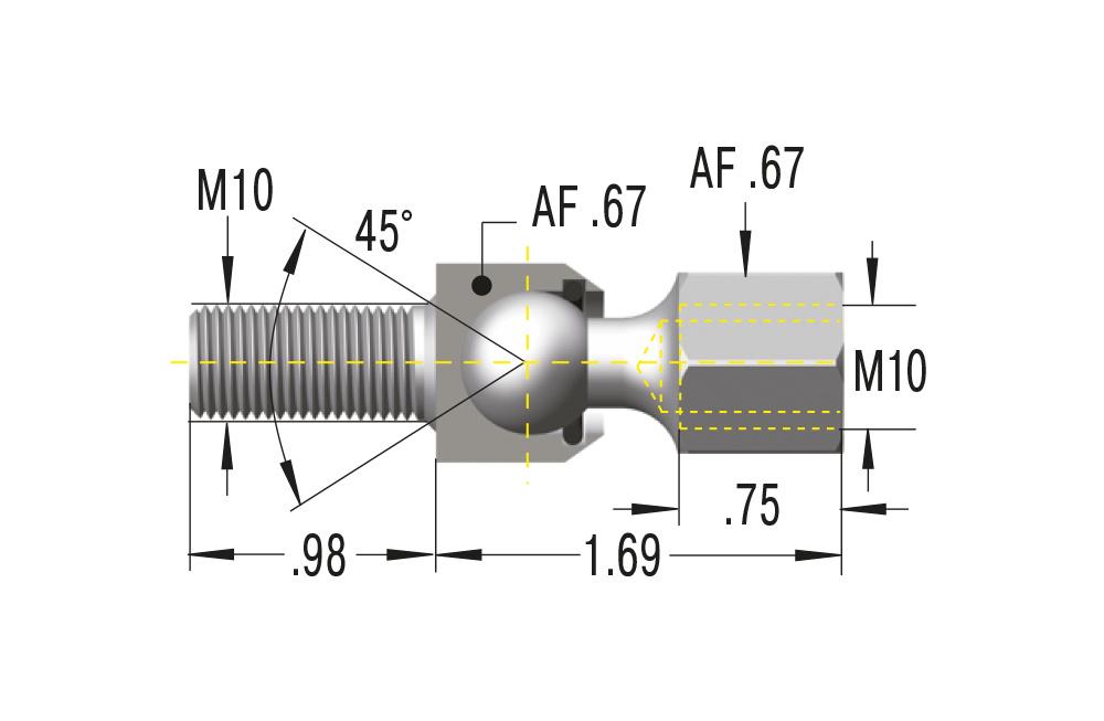 Gelenkschraube M10x1,5 ***maximale Belastung 1800N***