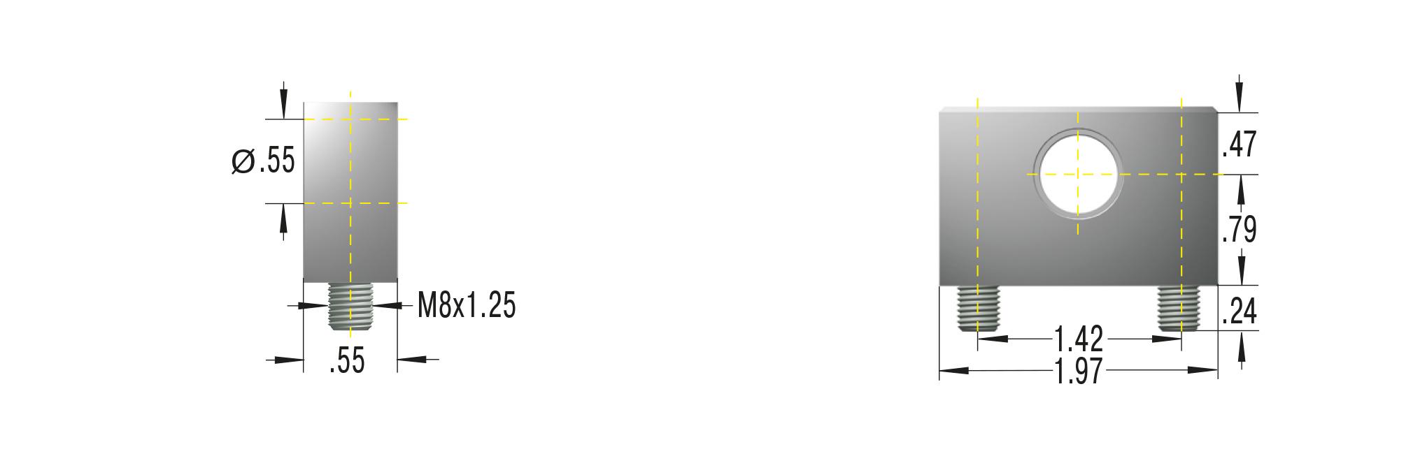 Beschlag für HB-40 und GS-40 **maximale Belastung 10000N**