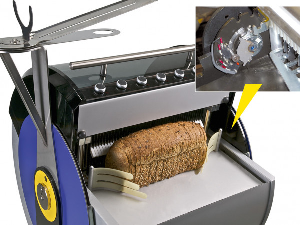 FDT Protective flap on bread slicing machines